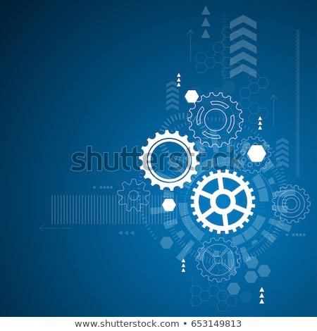 Technological Development on Blueprint of Cogs. Stock photo © tashatuvango