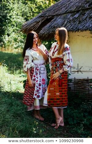 Zwei Holz Haar isoliert weiß Frau Stock foto © gavran333