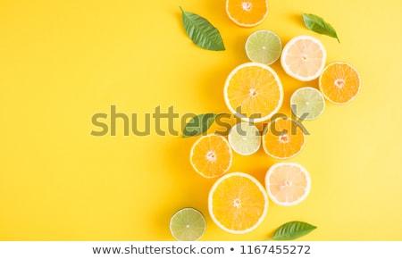 orange and lime fruit slice - concept Stock photo © ozaiachin