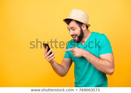 Handy senden Bild modernen Touchscreen Telefon Stock foto © alphaspirit