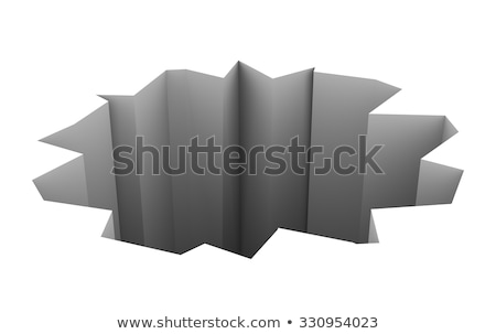 open hole pit chasm 3d background stock photo © iqoncept