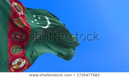 Turkey And Turkmenistan Flags Сток-фото © Myvector