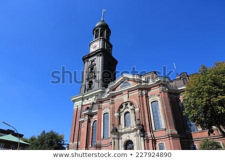 Kerk hamburg Duitsland hemel gebouw stad Stockfoto © vladacanon