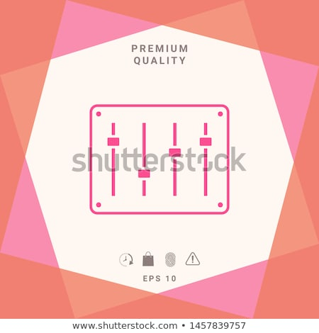 sonido · mezclador · consolar · línea · icono · esquinas - foto stock © rastudio