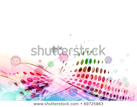 Musical grunge background with curls and circles. Stock photo © borysshevchuk