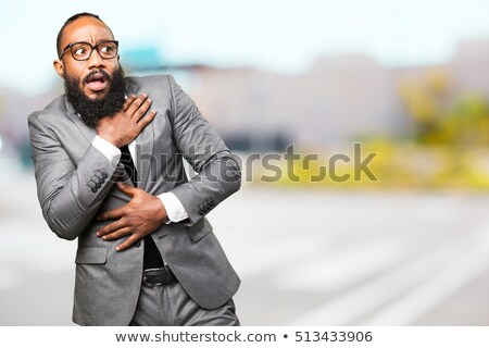 scared black businessman Stock photo © zdenkam