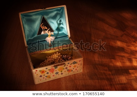 Müzik kutu oda tablo iç zemin Stok fotoğraf © bluering