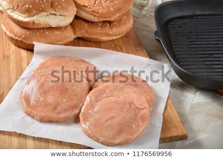 Salmon burger patty Stock photo © Digifoodstock