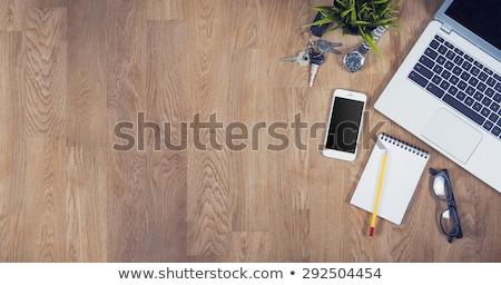 Stratégia fa asztal szó iroda divat gyermek Stock fotó © fuzzbones0