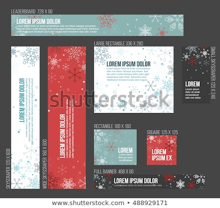 8 Standard size winter christmas banner templates Stock photo © orson