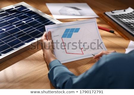 Zonne-energie industrie alternatief brandstof zon vlinder Stockfoto © Lightsource