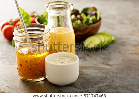 Mayonez salata sosu çanak kremsi plaka Stok fotoğraf © Digifoodstock