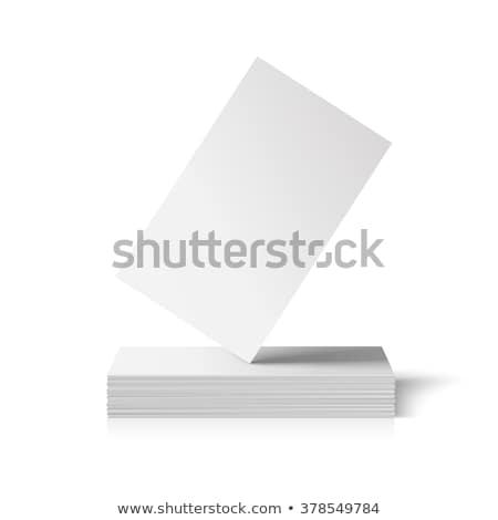 ギャラリー 名刺 正方形 3D ストックフォト © VadimSoloviev