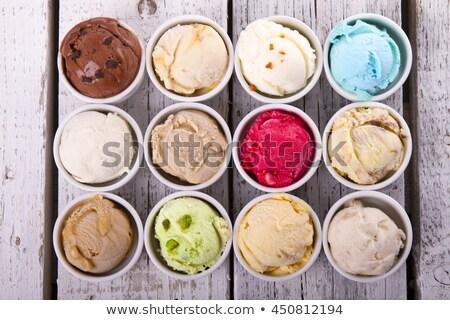 Szett fagylalt különböző ízek illusztráció csokoládé Stock fotó © bluering