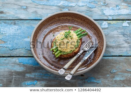 Scrambled Egg and Asparagus with Toasts Stock photo © monkey_business