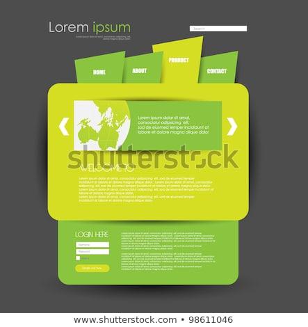 Geel inloggen vorm sjabloon ontwerp contact Stockfoto © SArts