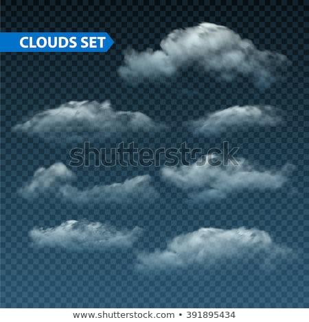 Vecteur nuages dramatique bleu paysage ciel Photo stock © kostins
