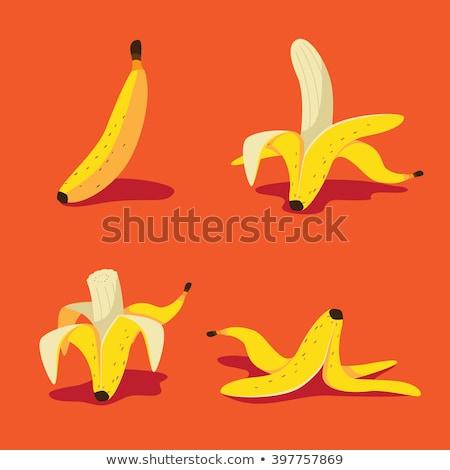 Frischen geschält Bananen weiß Obst Stock foto © Digifoodstock