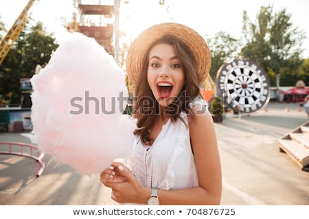 cotton candy in amusement park Stock photo © adrenalina