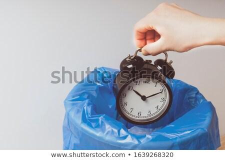 idő · múlt · ajándék · jövő · írott · iskolatábla - stock fotó © psychoshadow