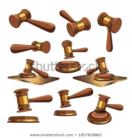 judge set in 3d vector illustration stock photo © kup1984