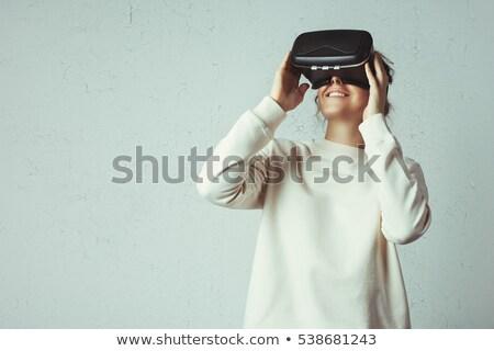 Virtual realidade fone branco tecnologia Foto stock © wavebreak_media