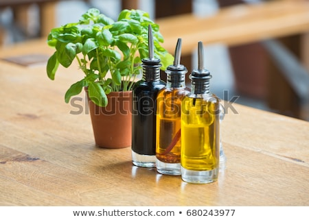 Olie zout azijn peper voedsel diner Stockfoto © gsermek