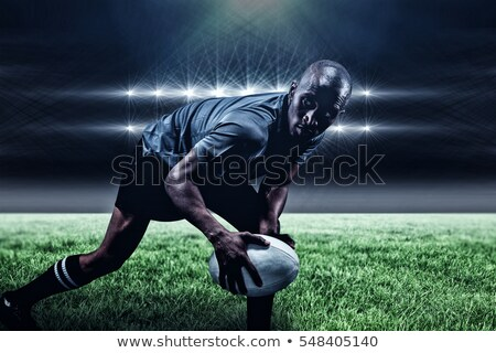 Side view of male rugby player keeping tee Stock photo © wavebreak_media