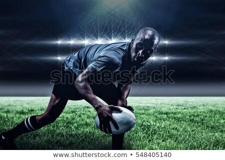 Widok z boku mężczyzna rugby gracz biały Zdjęcia stock © wavebreak_media