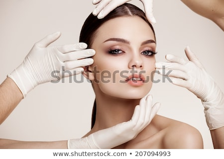 Stock photo: Young woman before plastic surgery operation.
