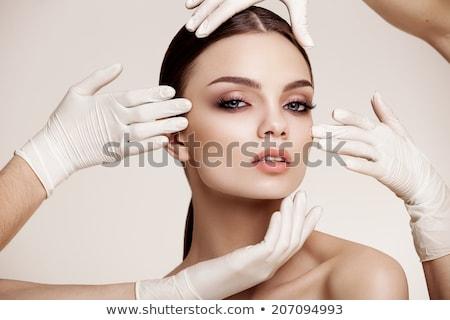 labio · tratamiento · primer · plano · aguja · moda · médicos - foto stock © o_lypa