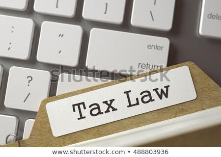 Karty pliku podatku prawa 3D pomarańczowy Zdjęcia stock © tashatuvango