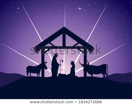 Nativity Christmas Illustration Mary and Joseph Stock photo © Krisdog