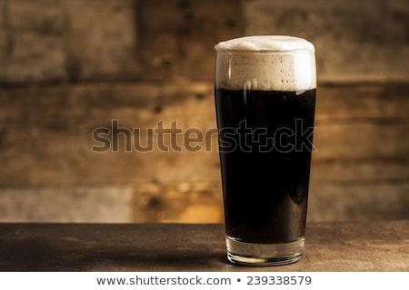 темно · пива · стекла · алкоголя - Сток-фото © orensila