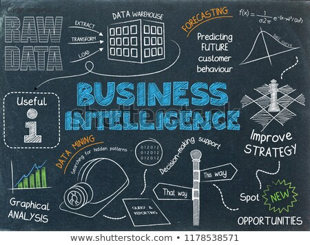 Business Intelligence Concept Hand Drawn on Chalkboard. Stock photo © tashatuvango