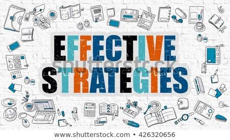 Effectief strategieën witte moderne lijn stijl Stockfoto © tashatuvango