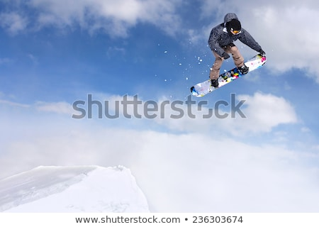 kayakçı · hava · atlamak · kar - stok fotoğraf © is2