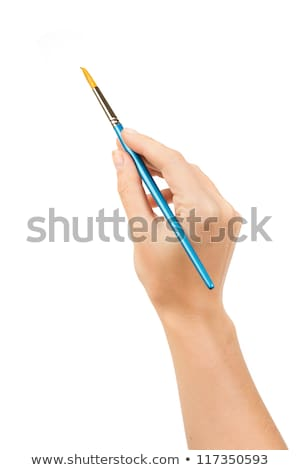 Zdjęcia stock: Hands Painting With Brush