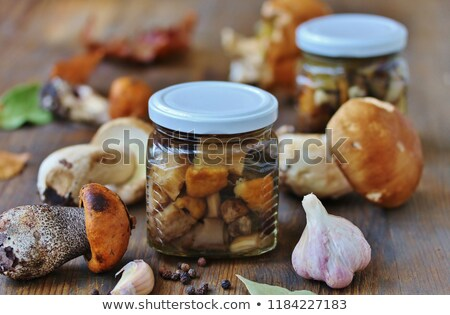 Pickled boletus with spices Stock photo © ssuaphoto