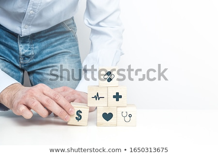 Stock photo: Medicine Concept Lifestyle Diseases On Red Brick Wall