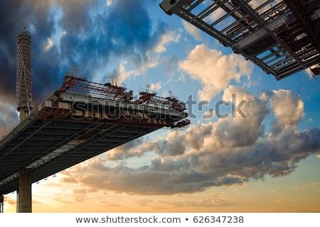 строительство · моста · Blue · Sky · дороги · синий · шоссе - Сток-фото © nemalo