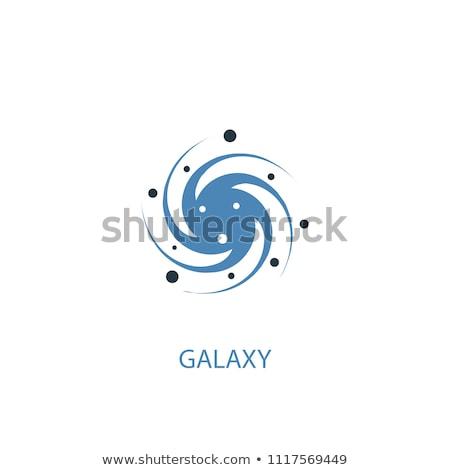 establecer · espacio · iconos · cohete · ufo · satélite - foto stock © genestro