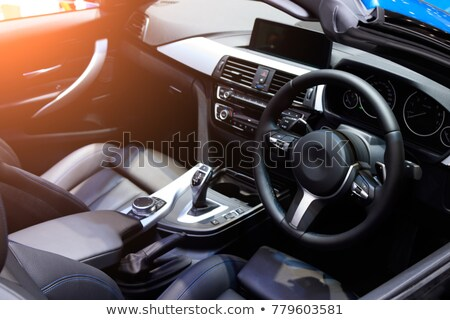 autó · belső · vezetés · elmosódott · éjszaka · fények - stock fotó © lightpoet