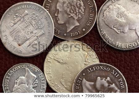 Испания · старые · монетами · деньги · металл · Финансы - Сток-фото © lunamarina
