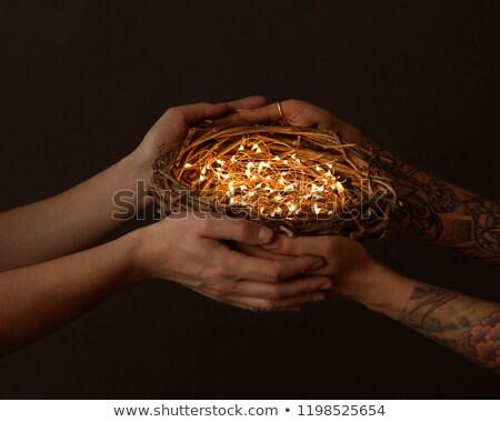 венок ярко мужчины женщины рук Сток-фото © artjazz