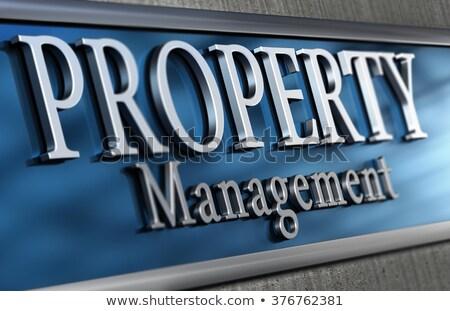 Zarządzania firmy fasada 3d ilustracji poważny Zdjęcia stock © olivier_le_moal