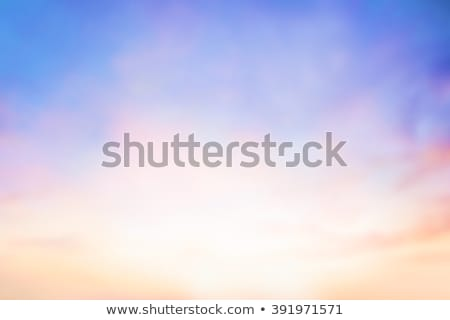Beautiful morning sunset sky with soft blur pastels gradient background . Stock photo © artjazz