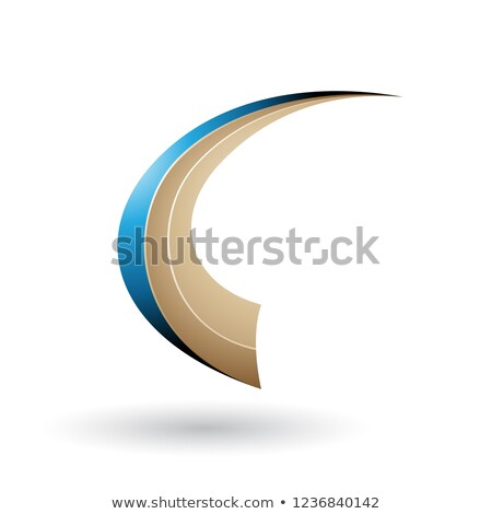 Blu beige dinamica battenti lettera vettore Foto d'archivio © cidepix