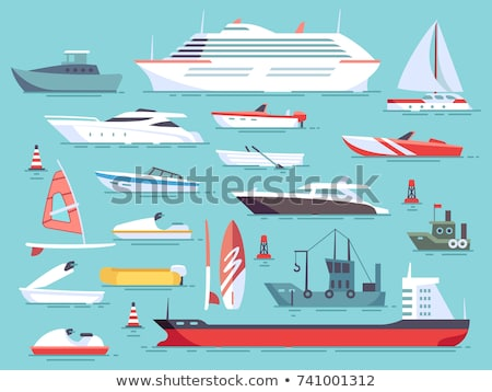 Water Transport Travel Means Boats Set Vector Stock photo © robuart