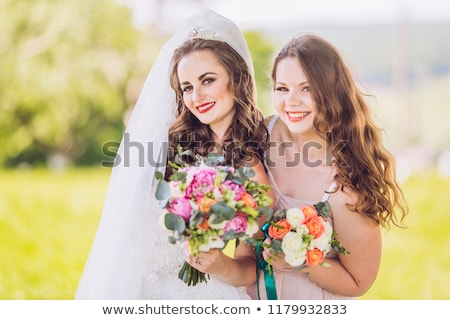 verde · ramo · de · la · boda · boda · mujer · manos - foto stock © ruslanshramko